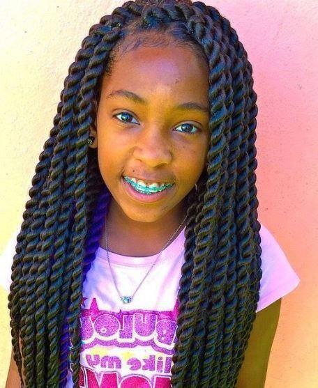 Senegalese Twists Braids For Kids Braidsforkids Little Black Girls Braids Hair Braid Diy Black Girl Braided Hairstyles
