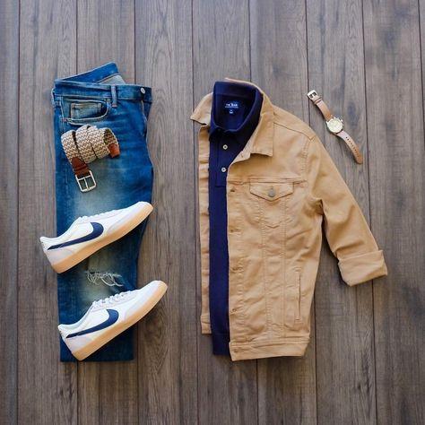 Smart Casual Outfit, Stylish Mens Outfits, Cool Outfits, Casual Outfits, Men Fashion Show, Mens Fashion, Fashion Ideas, Nike Killshot, Tomboy Fashion