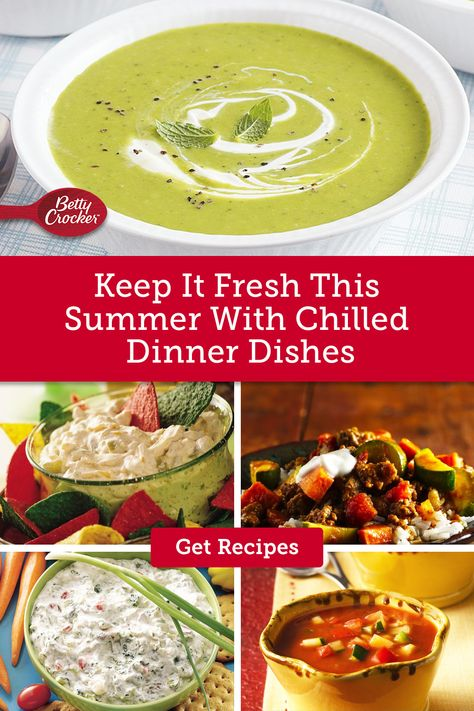Keep it Fresh This Summer with Chilled Dinner Dishes ideal for hot days. Pin these summer meal ideas today.