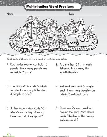 At the Store: Multiplication Word Problems | Word problems ...