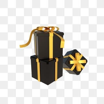 C4d Stereo Black Gold Gift Box Stacked Gift Boxes Ribbon Pull Flower Gold Poster Decoration Png Transparent Clipart Image And Psd File For Free Download Gambar