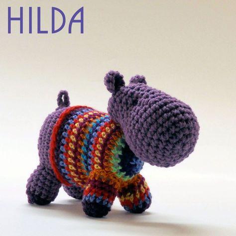 Crochet Hippopotamus