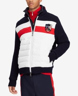 Multi Navy Skier Lauren Polo Ralph Hybrid Downhill Men's Jacket SUqpMzVGL
