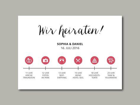 wedding invitation stationery timeline | Hochzeitseinladung TIMELINE von in Liebe www.inLiebe-papeterie.de