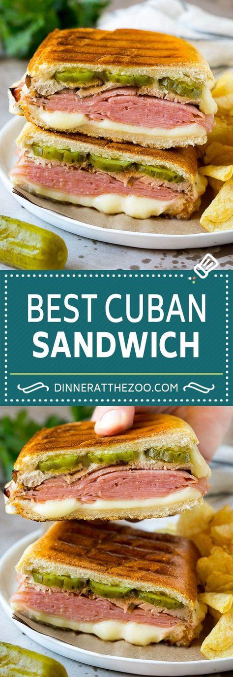 Cuban Sandwich Recipe #sandwich #pork #ham #cheese #pickles #lunch #dinner #dinneratthezoo