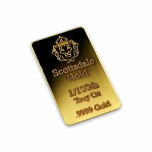 1 100 Oz Lingotin Or Pur Scottsdale Mint Fine Gold Bar 9999 In 2020 Gold Gold Bar Mint