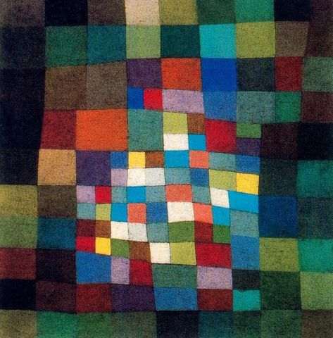 Master of colour. In the desert by Paul Klee (1879-1940, Switzerland)