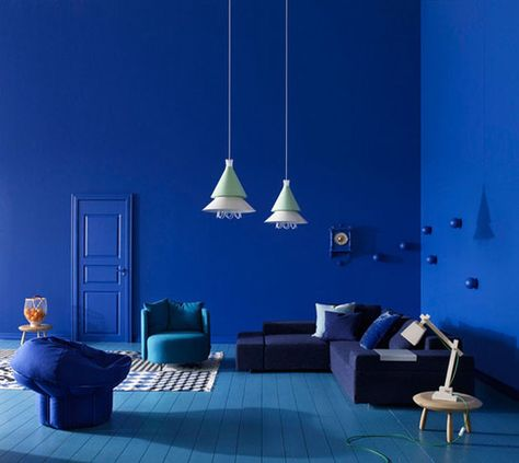 Rich Blue And Pink Interior Decorating Paint Colors And Modern