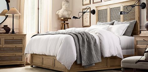 Reclaimed Russian Oak Canopy Bedroom Collection Black ...