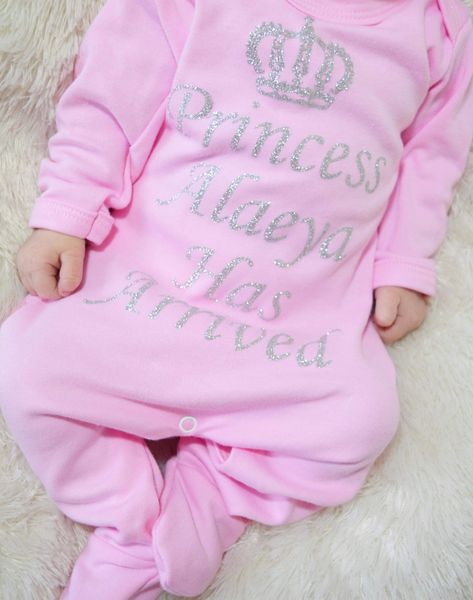 a39d0a80c7cee Our adorable personalised baby grows feature a royal  Prince     Princess   personalisation so you re sure to know who s now boss in the house!