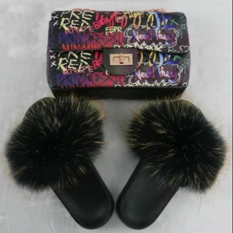 Ready Stock Graffiti Black Jelly Purse Bag  Fur Slide Set F736 DM for wholesale price 😍#wholesale #sample #customized #logo  💝No Moq  🔥No licensed needed 💰Support PayPal and credit card  💃We also have Dresses, Tops, Pants  Accessories.☑ Get Yours!  #wholesale #vendor #wholesalefurslides #furslippers #clothingvendor 💝Customized logo just 10pcs to start