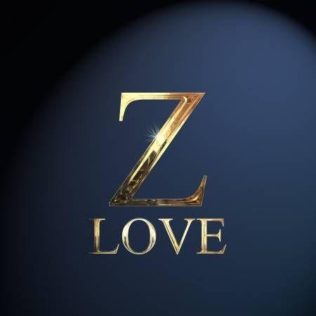 Gold Alphabet Letter Z Word Love On A Blue Background Lettering Alphabet Letter Z Alphabet Letters Design