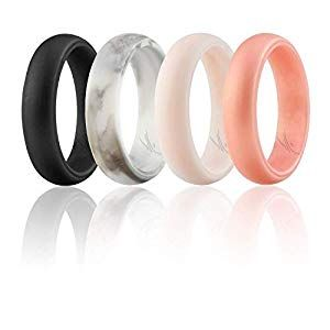 Roq Silicone Wedding Ring For Women Affordable Silicone Rubber Wedding Bands 7 Packs 4 Pack Singles Glitters Rubber Wedding Band Silicone Wedding Rings Silicone Wedding Band