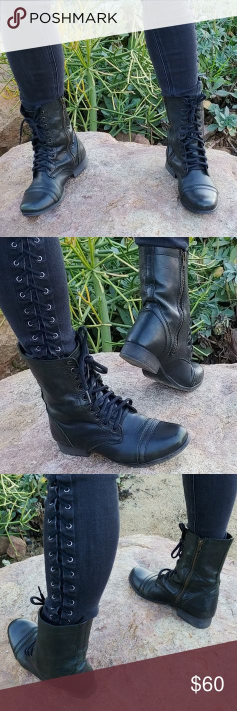 ff86fef56fd List of Pinterest combat boots black tall steve madden images ...