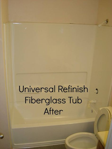 Fiberglass tub and surround refinish 8inch | Universal Refinish of ...