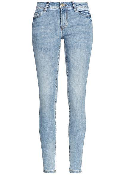 c4711d360a40 JDY by ONLY Skinny Jeans Hose 5-Pockets Zipper NOOS hell blau denim ...