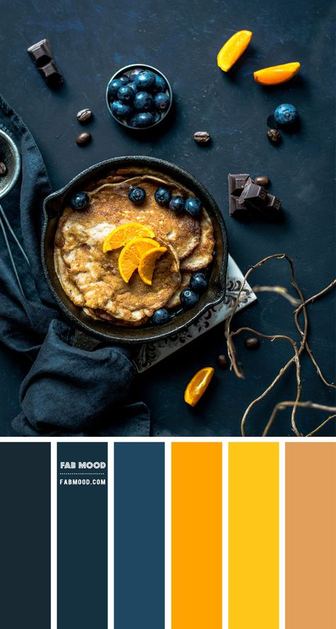 Blueberry and Yellow Color Scheme – Color Palette #72 1 - Fab Mood | Wedding Colours, Wedding Themes, Wedding colour palettes