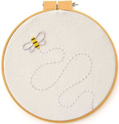 Easy Beginner's Bee Embroidery Pattern