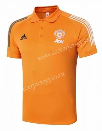 2020 2021 Manchester United Orange Polo Shirt 815 In 2020 Orange Polo Shirt Polo Shirt Manchester United