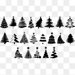 Vector Christmas Tree Design Set Christmas Tree Design Christmas Tree Drawing Christmas Vectors