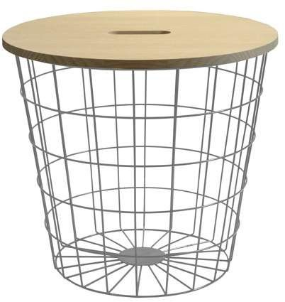 Urban Shop Wire Storage Table With Removable Wooden Top Multiple Colors Walmart Com Wooden Tops Wire Storage Urban Shop