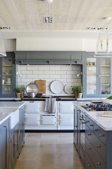 35 Admirable Farmhouse Grey Kitchen Cabinet Design Ideas Interior Design Kitchen Farmhouse Kitchen Design Kitchen Cabinet Design