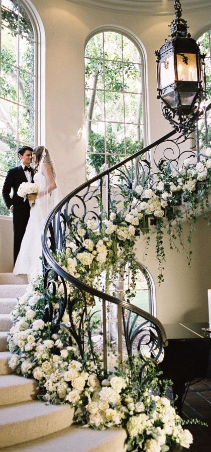 1000 ideas about wedding staircase on pinterest wedding for Wedding house decoration ideas