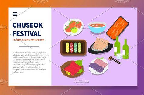 Landing Page Chuseok Festival by bungamustia on @creativemarket