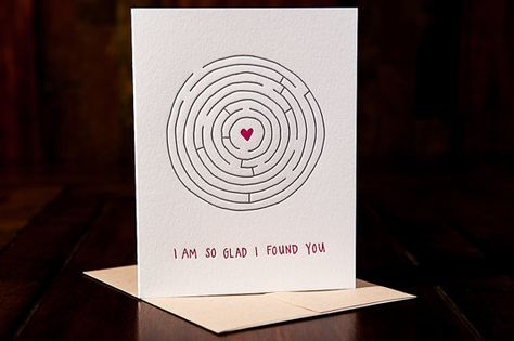 So Glad I Found You letterpress card  single by inkmeetspaper, $5.00