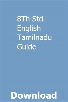 8th Std English Tamilnadu Guide Text Features Guided Math
