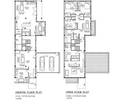 Picture 4 Of 6 House Plans House Plans 2 Story Modern House Plan