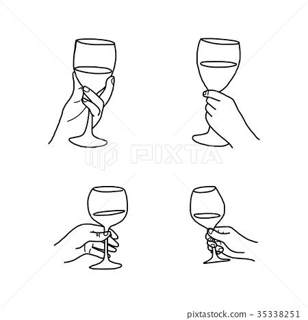 Hand Holding Wine Glass Google Search Wine Glass Drawing Wine
