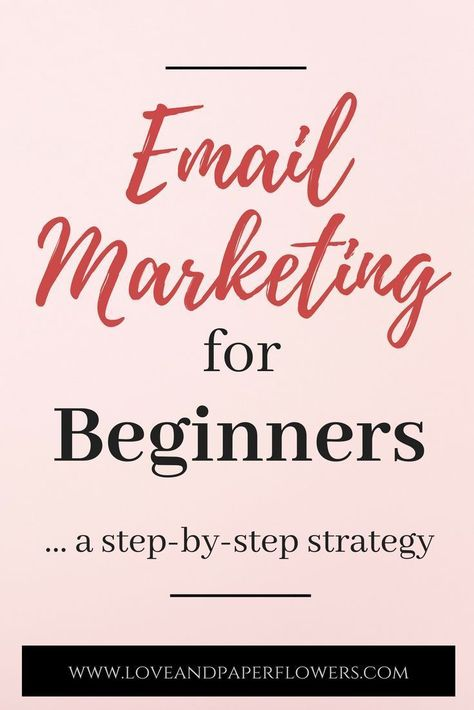 The Power of Great Email Marketing for Bloggers (A Step-by-Step Strategy) - Love and Paper Flowers