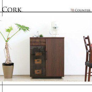 キッチンカウンター キッチン 収納 おしゃれ 完成品 70 北欧 安い