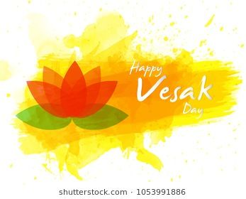 Nice and beautiful abstract or poster for Happy Vesak Day