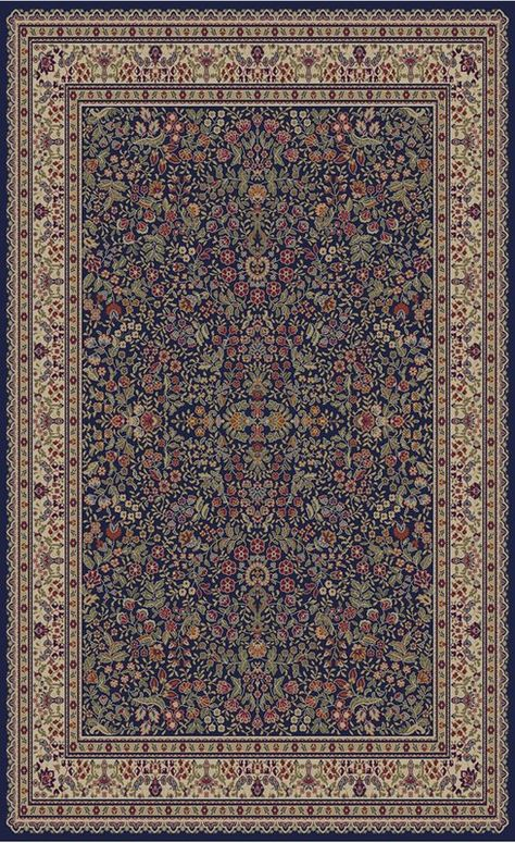 Edmont Jewel Sarouk Navy Area Rug Area Rugs Traditional Area Rugs Synthetic Rugs