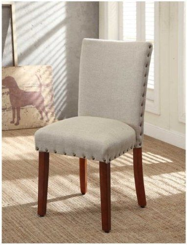 Tan Linen Dining Chair Set Of 2 Dining Chairs Go Perfect With