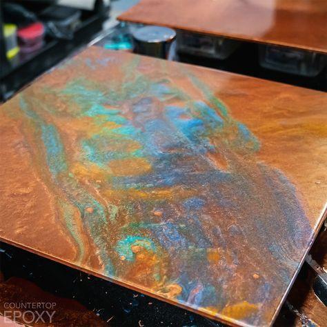 Premium Copper Patina Fx Poxy Countertop Kit Resin Countertops