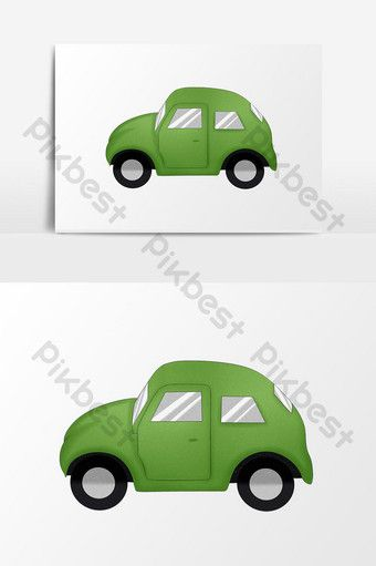 Cute Childlike Children S Toy Element Free Button Green Car Png Images Psd Free Download Pikbest In 2020 Childrens Toy Green Toys Toy Car