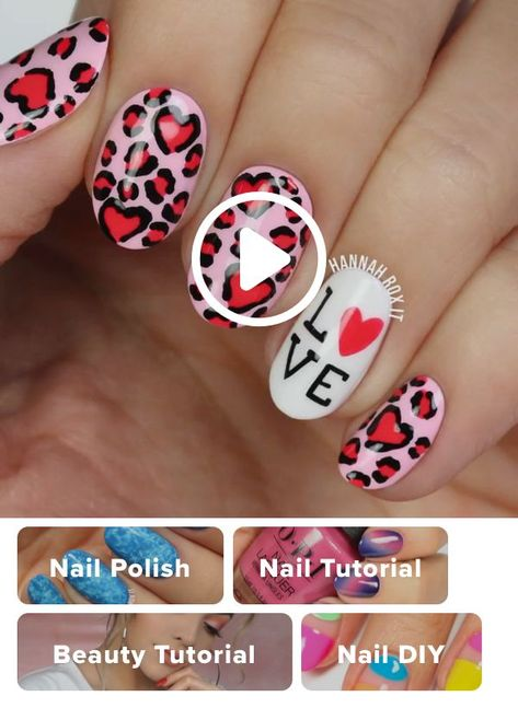 How to get a leopard heart from manicure  #heart #leopard #manicure