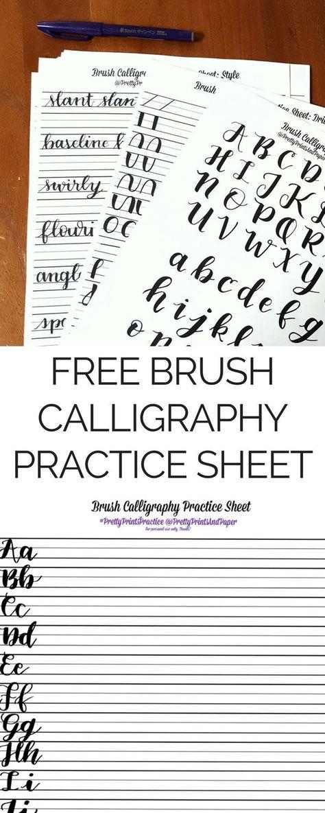 Printable Worksheets printable calligraphy worksheets : Free Lettering Practice Worksheets from Tombow | Lettering ...