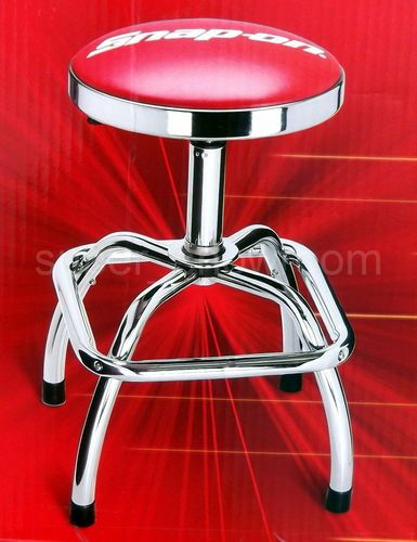 New Snap On Pneumatic Shop Stool Adjustable Seat Height Swivel Red Chrome Plated & New Snap On Pneumatic Shop Stool Adjustable Seat Height Swivel Red ... islam-shia.org