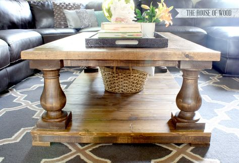 Free DIY Furniture Project Plan: Learn How to Build a Balustrade Coffee Table