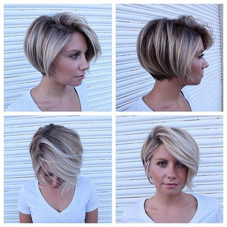 Short Bob With Bangs Short Bob Haircuts 2019 Short Hair Styles Thick Hair Styles Hair Styles