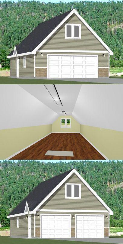 24x36 2 Car Garage 24x36g2g 1 344 Sq Ft Excellent Floor Plans Garage Plans Garage Floor Plans