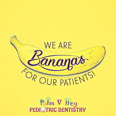 IT'S BANANAS how much we love our patients!  PVPD - Palm Valley Pediatric Dentistry  www.pvpd.com   #pvpd #kid #children #baby #smile #dentist #pediatricdentist #goodyear #avondale #surprise #phoenix #litchfieldpark #PalmValleyPediatricDentistry #verrado #dentalcare #pch #nocavityclub #ThingsNotToSayAtABar #Charolettesville #SundayMorning #HackLearning #LeftHandersDay