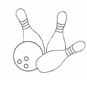 Bowling Balls And Pins Printable Coloring Page Free To Download