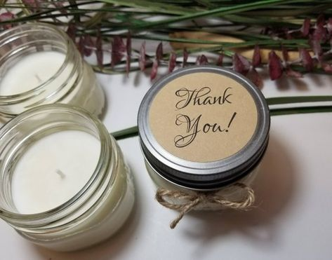 7b7f0ae0499 12 - 4 oz Thank You Gifts - Thank You Candles - Personalized Candles -  Candle for Guests - Hostess
