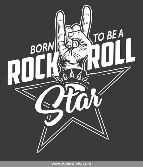 Old school style rock&roll hand sign badge. Click to the link to find more rock&roll emblems, badges, posters and designs. #vectorillustration#vector#illustration#design#dgimstudio #music #rock #roll #rock&roll #party #club #concert #audio #rocksign