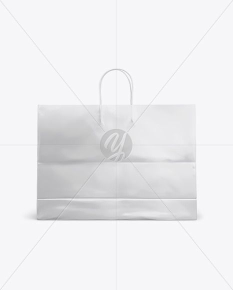 Download Glossy Shopping Bag With Rope Handle Mockup Front View In Bag Sack Mockups On Yellow Images Object Mockups Rope Handles Psd Template Free Bag Mockup